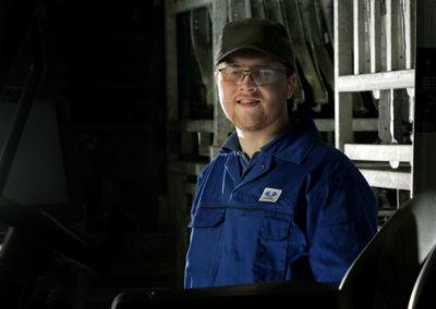Unipres Apprentice behind fork lift truck